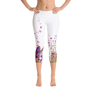 Spread Your Wings Llama Capri Leggings