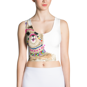 Fiesta Llama Sublimation Cut & Sew Crop Top