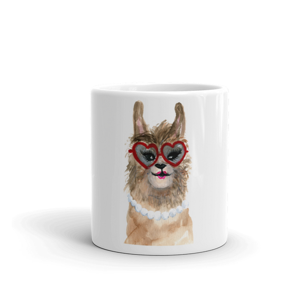 Grandllama Mug Red Glasses