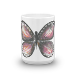 Burgandy Butterfly Mug