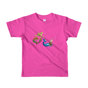 Mermaid Narwhallama Friends American Apparel Short Sleeve Kid's T-Shirt