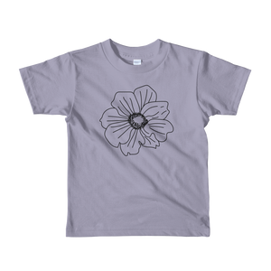 Black Anemone Short Sleeve Kids T-Shirt