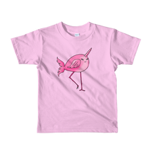 Narwhal Flamingo Short Sleeve Kids T-Shirt