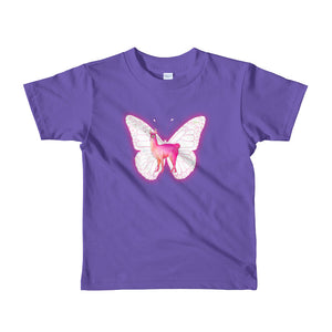 Llama Butterfly Friends Short Sleeve Kids T-Shirt