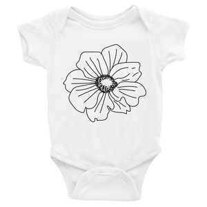 Black Anemone Infant Bodysuit
