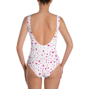 All Love Llama & Hearts One-Piece Swimsuit