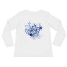 Blue Flower Layers Ladies Long Sleeve T-Shirt