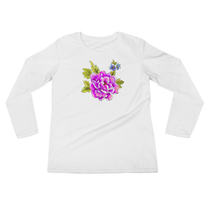 Peony & Pansy Ladies Long Sleeve T-Shirt