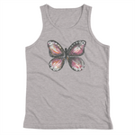Burgandy Butterfly Youth Tank Top