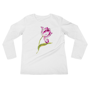 Pinkish Tulip Ladies Long Sleeve T-Shirt