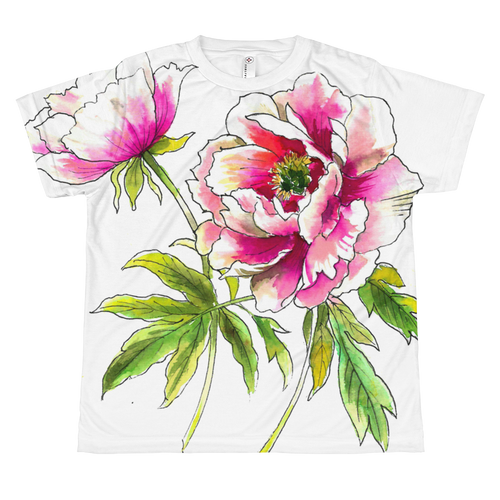 Peony Flowers Youth Sublimation T-Shirt