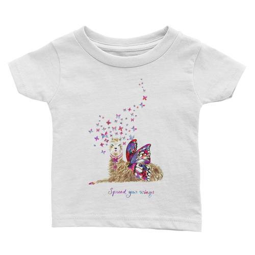 Spread Your Wings Llama Text Infant Tee