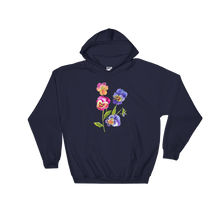 Colorful Pansies Hooded Sweatshirt