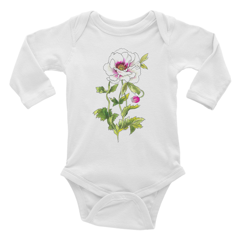 White Anemone Infant Long Sleeve Bodysuit