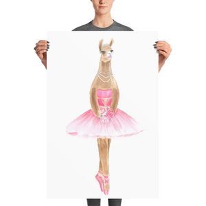 Balletllama Pink Photo Paper Poster