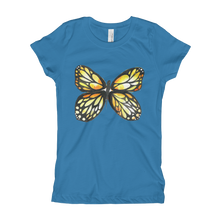Black & Yellow Butterfly Girl's T-Shirt