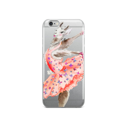 Balletllama Tutu Pink iPhone Case