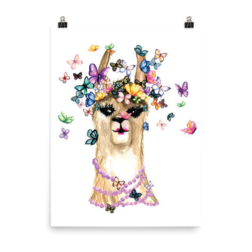 Flutterllama Photo Paper Poster