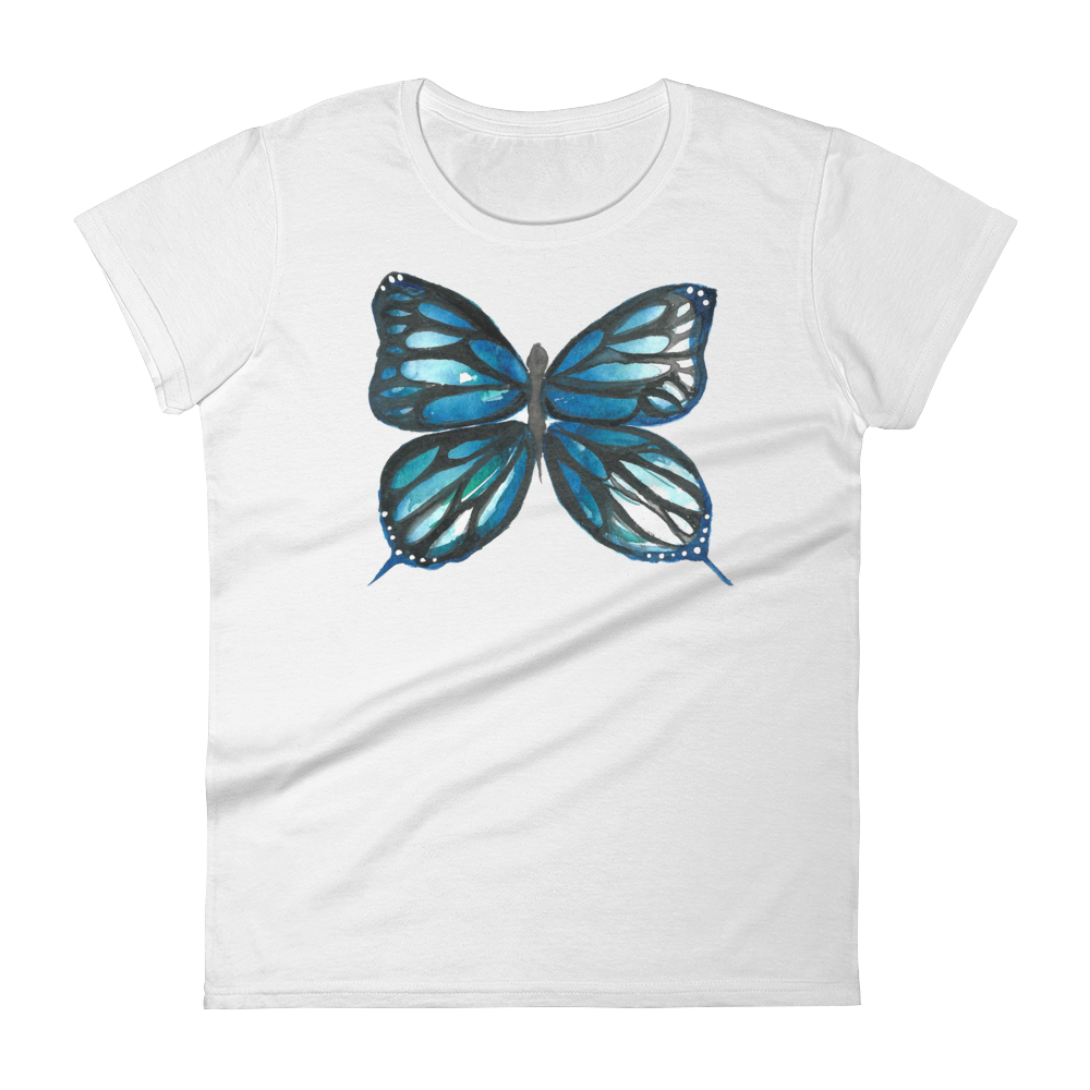 Blue Butterfly Women's Short Sleeve T-Shirt