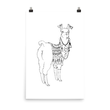 Bollyllama Outline Photo Paper Poster