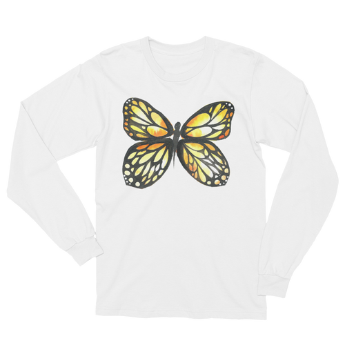 Black & Yellow Butterfly Long Sleeve T-Shirt Unisex