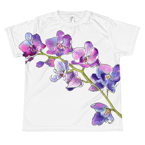 Purple Orchids Youth Sublimation T-Shirt