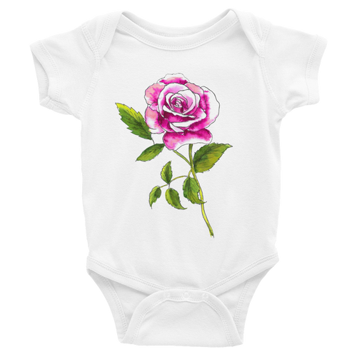 Pink Rose Infant Bodysuit
