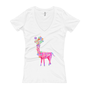 Candyllama Women's V-Neck T-Shirt