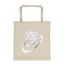 French Set Halo Engagement Ring Tote Bag
