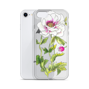 White Anemone iPhone Case