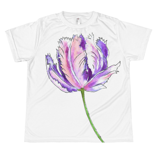 Purple Parrot Tulip Youth Sublimation T-Shirt
