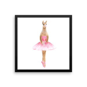 Balletllama Pink Framed Photo Paper Poster