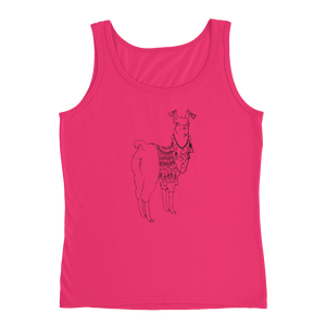 Bollyllama Outline Ladies Tank