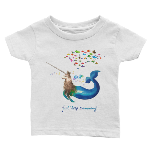 Narwhallama Just Keep Swimming Infant Tee
