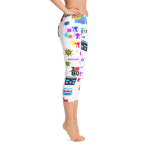 80's Jam All Over Small Print Women's Capri Leggings