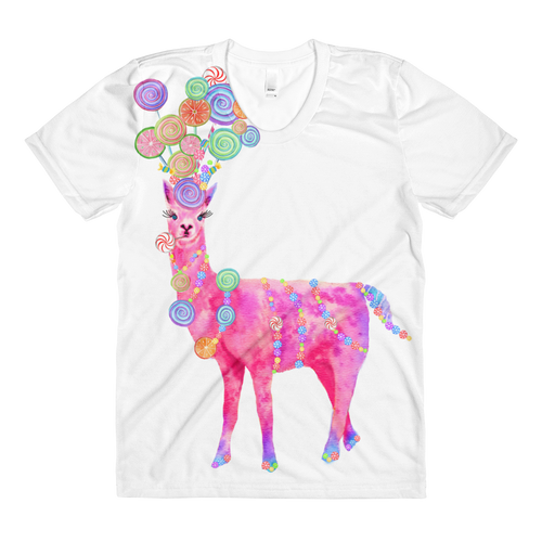Candyllama Sublimation Women's Crew Neck T-Shirt