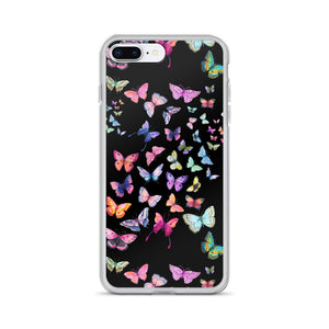 Butterfly Swarm Black iPhone Case