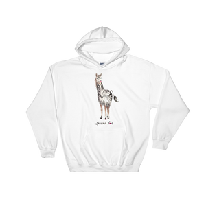 Zebrallama Spread Love Hooded Sweatshirt Text