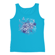 Blue Flower Layers Ladies Tank