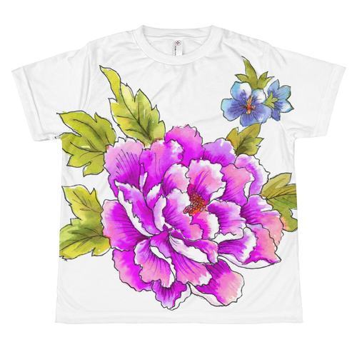 Peony & Pansy Bloom Youth Sublimation T-Shirt
