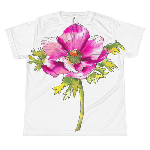 Hot Pink Anemone Youth Sublimation T-Shirt