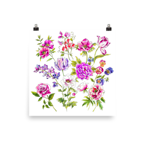 Floral Frenzy Photo Paper Poster