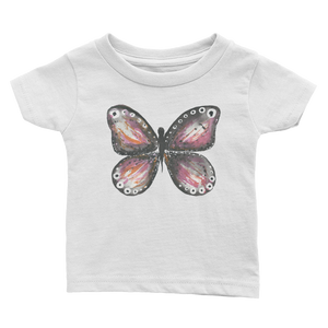 Burgandy Butterfly Infant Tee