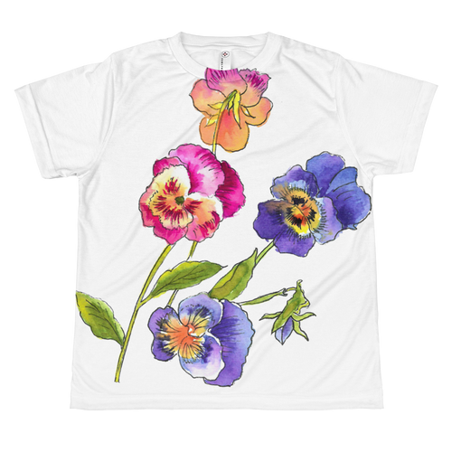Colorful Pansies Youth Sublimation T-Shirt
