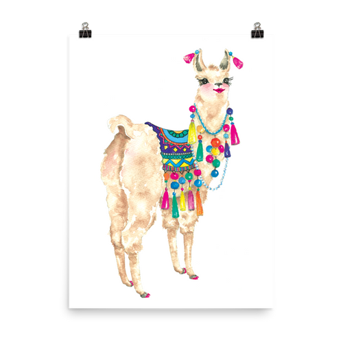 Bollyllama Photo Paper Poster