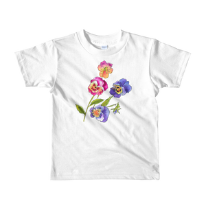 Colorful Pansies Short Sleeve Kids T-Shirt