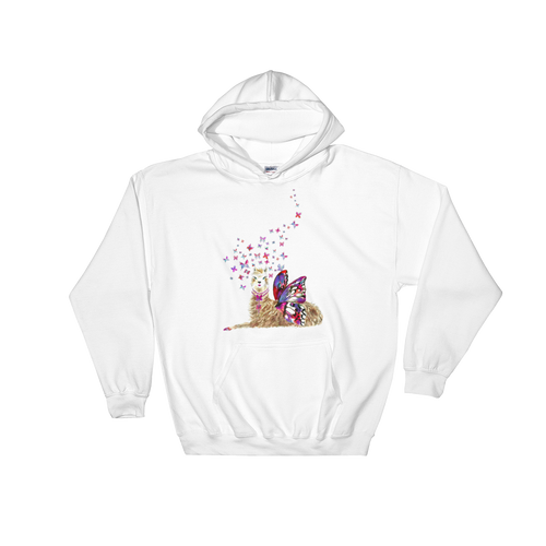 Spread Your Wings Llama Hooded Sweatshirt