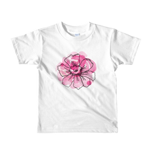 Black Anemone & Pink Watercolor Short Sleeve Kids T-Shirt