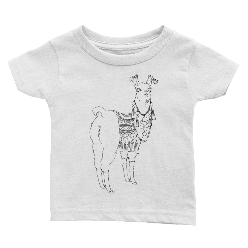 Bollyllama Outline Infant Tee