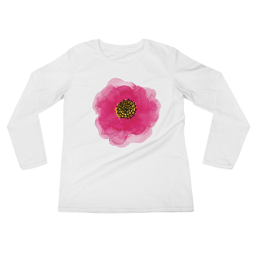 Pink Flower Bloom Ladies Long Sleeve T-Shirt